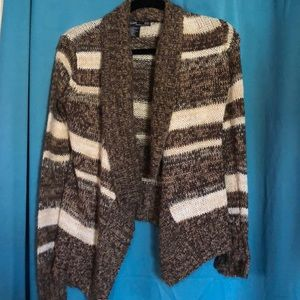 Brown and cream cardigan